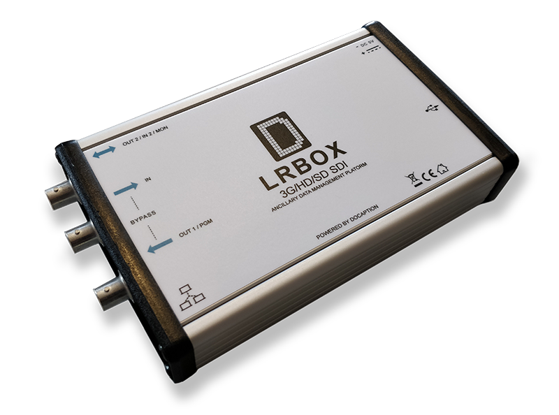 LRBox Closed Captions decoder and monitor